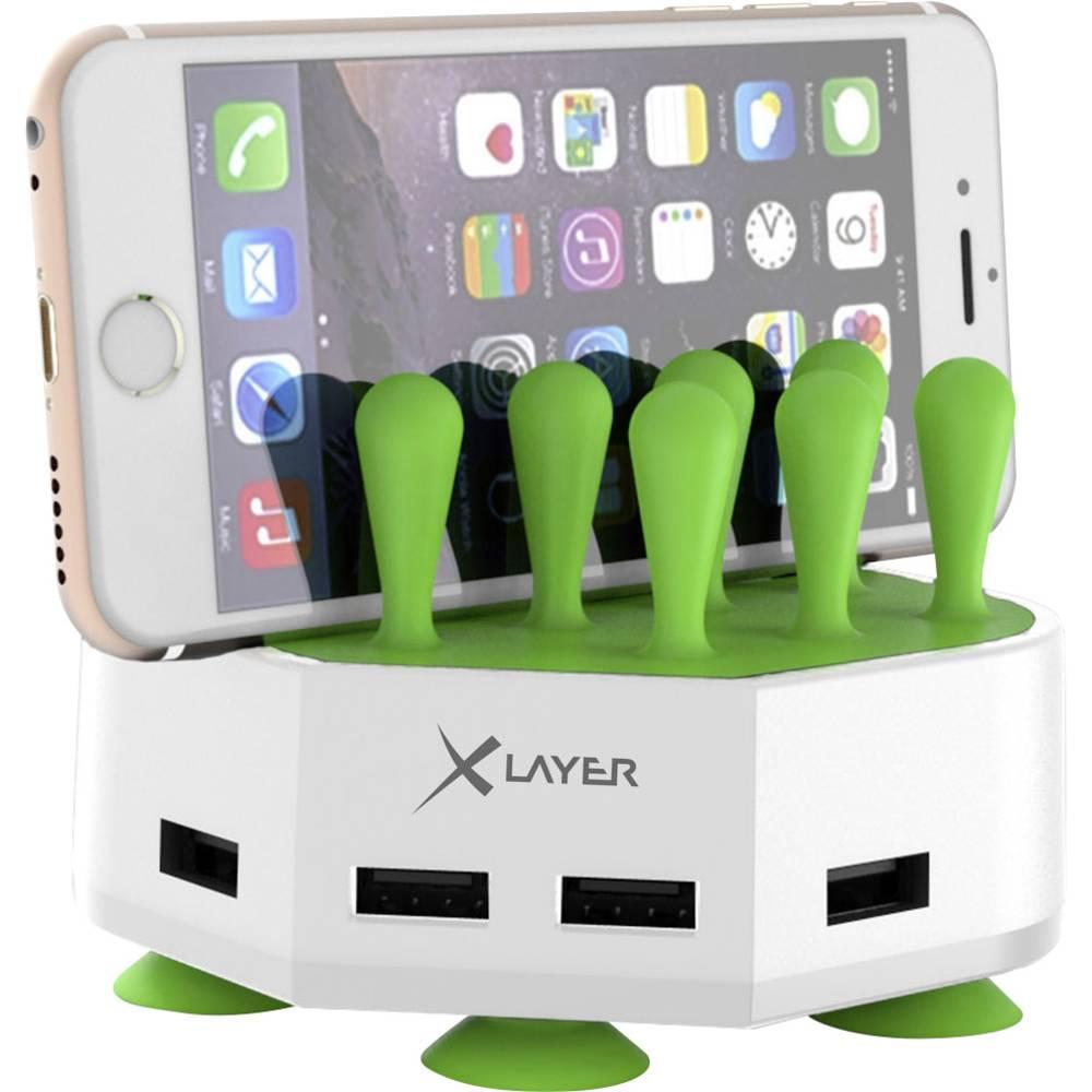USB-opladerstation Xlayer Family Charger Mini 212728 Stikdåse Udgangsstrøm max. 6800 mA 4 x USB (value.1390762)