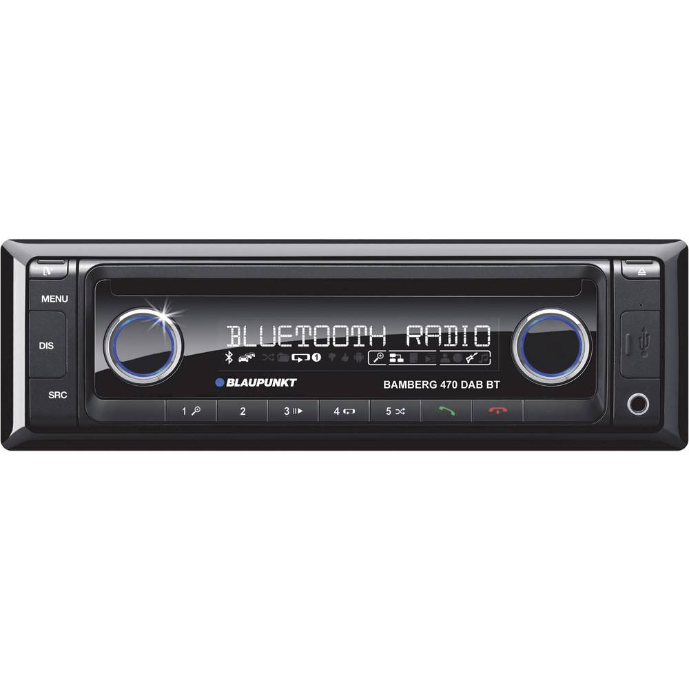 Bilradio Blaupunkt Bamberg 470 DABBT DAB+ tuner, Håndfrit Bluetooth®-system, Tilslutning til ratbetjening
