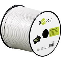 Goobay 67751 kabel za zvočnik 2 x 2.50 mm² bela 25 m