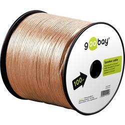 Goobay 67721 kabel za zvočnik 2 x 1.50 mm² transparentna 25 m