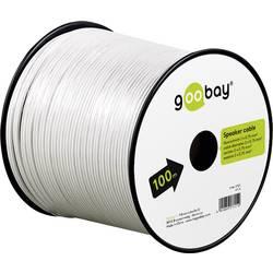 Goobay 67744 kabel za zvočnik 2 x 0.75 mm² bela 10 m