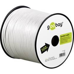 Goobay 67747 kabel za zvočnik 2 x 1.50 mm² bela 10 m
