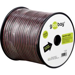 Goobay 15094 kabel za zvočnik 2 x 0.75 mm² rdeča/črna 25 m