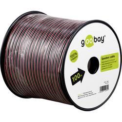 Goobay 15097 kabel za zvočnik 2 x 1.50 mm² rdeča/črna 25 m