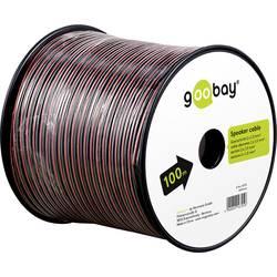 Goobay 56705 kabel za zvočnik 2 x 1 mm² rdeča/črna 100 m