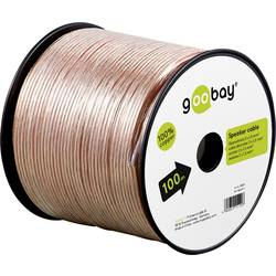 Goobay 15128 kabel za zvočnik 2 x 1.50 mm² transparentna 50 m
