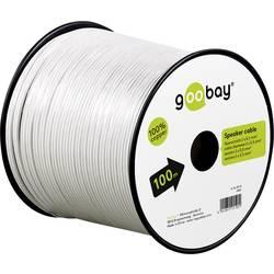 Goobay 15109 kabel za zvočnik 2 x 0.50 mm² bela 10 m