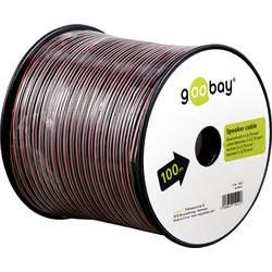 Goobay 67730 kabel za zvočnik 2 x 0.75 mm² rdeča/črna 25 m