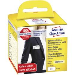 Avery-Zweckform Etikete v roli 41 x 89 mm Folija Bela 200 KOS Ponovno lepljenje AS0722560 Imenske nalepke