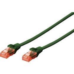 LAN (RJ45) Omrežni Priključni kabel CAT 6 U/UTP [1x Moški konektor RJ45 - 1x Moški konektor RJ45] 10 m Zelena Ognjevaren, Brez h