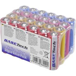 Mignon (AA) baterija alkalno-magnanova Basetech 2650 mAh 1.5 V 24 kosov