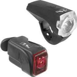 komplet svjetla za bicikl M-Wave ATLAS K10 USB led pogon na punjivu bateriju crna