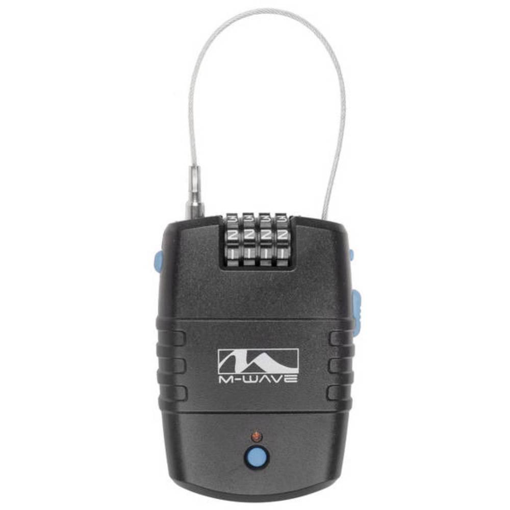 M-Wave LOCK`N`ROL kabelska ključavnica črna z alarmom ključavnica s številčnico