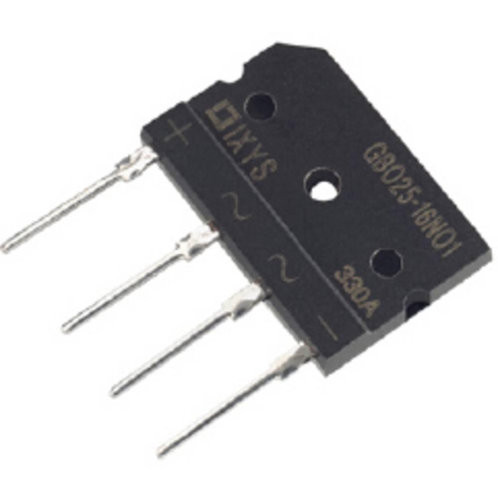 Mostični usmernik IXYS GBO25-16NO1 SIP-4 1600 V 25 A enofazni