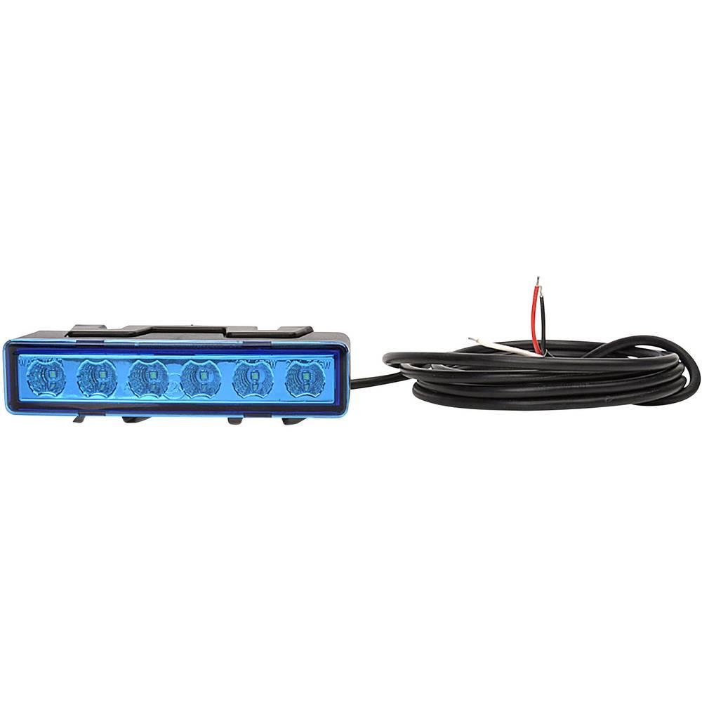 WAS sprednja bliskavica / opozorilna luč W117 95899.1 12 V, 24 V površinska pritrditev, vgradna, vijačna pritrditev modre barve