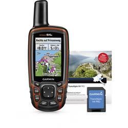 Garmin GPSMap 64s + TOPO Deutschland V8 Pro Outdoor Navi Vandring, Cykler Tyskland GLONASS, GPS, inkl. topografiske kort, Stænkv