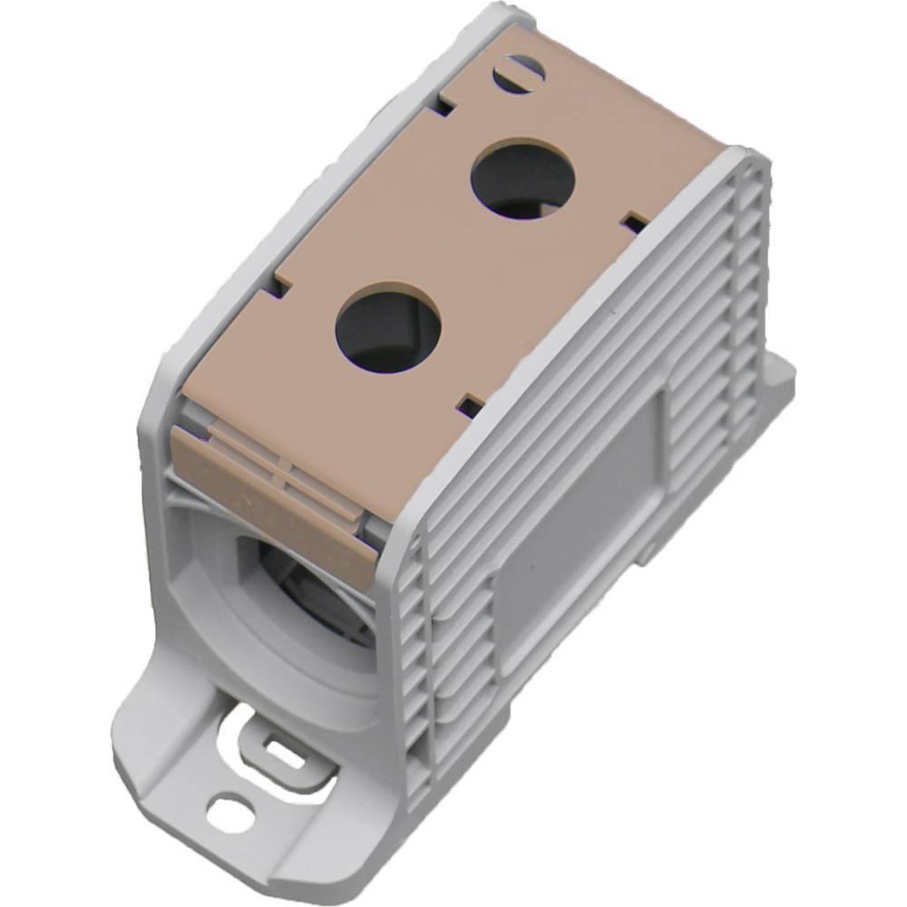 HoraeTec 106318 vrstna sponka pa sivo-bela (ral 7035), rjava 1-polni 420 A, 340 A 600 V Vrste vodnikov = L