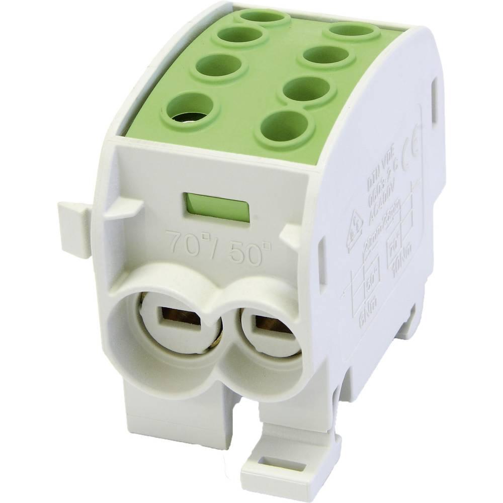 HoraeTec 106297 odcepna sponka za glavni kabel medenina, pa sivo-bela (ral 7035), rumena, zelena 1-polni 160 A 690 V Vrste vodn