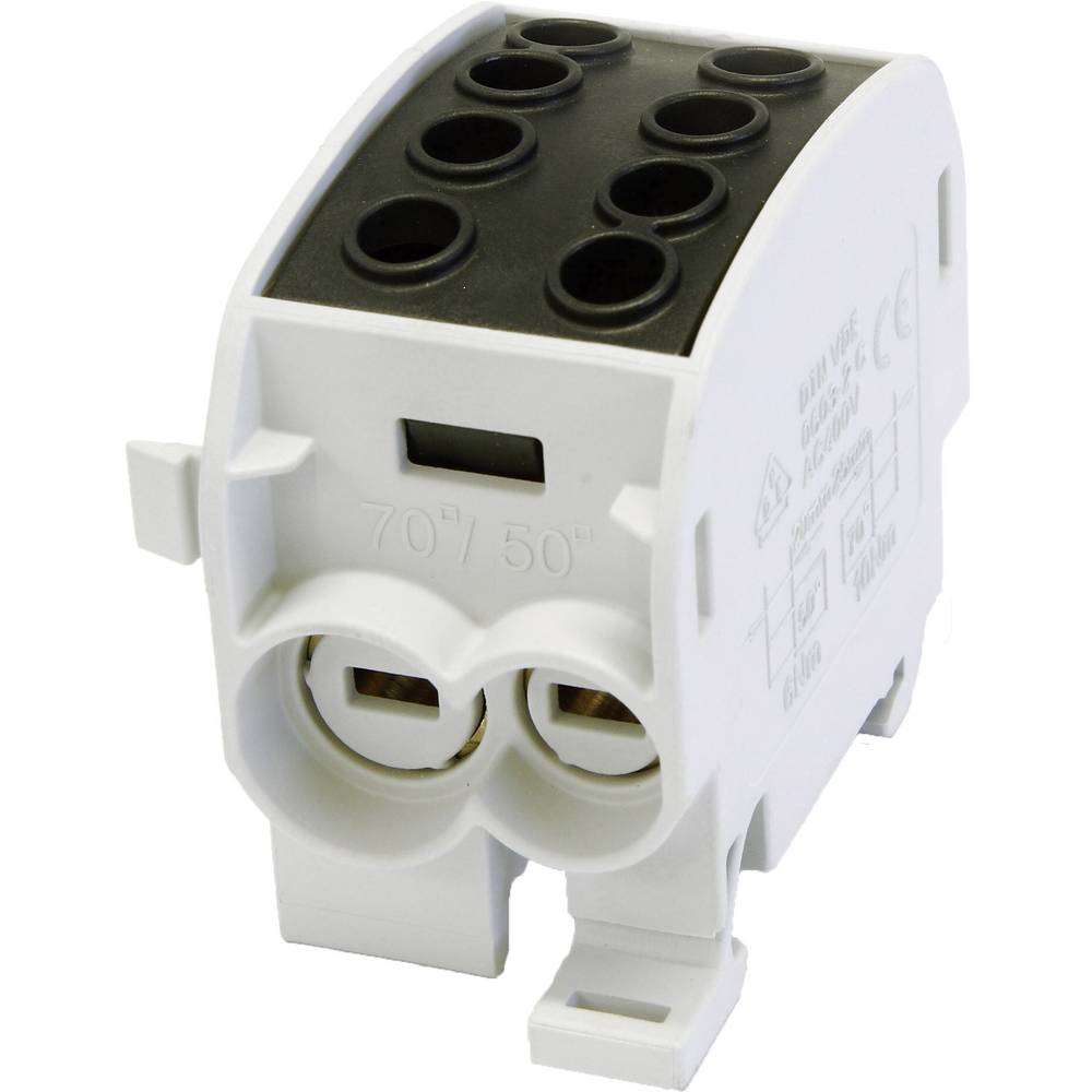 HoraeTec 106299 odcepna sponka za glavni kabel medenina, pa sivo-bela (ral 7035), intenzivna črna (ral 9005) 1-polni 160 A 690