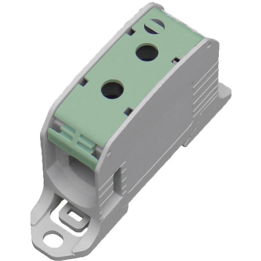 HoraeTec 106307 vrstna sponka pa sivo-bela (ral 7035), rumena, zelena 1-polni 200 A, 155 A 600 V Vrste vodnikov = PE