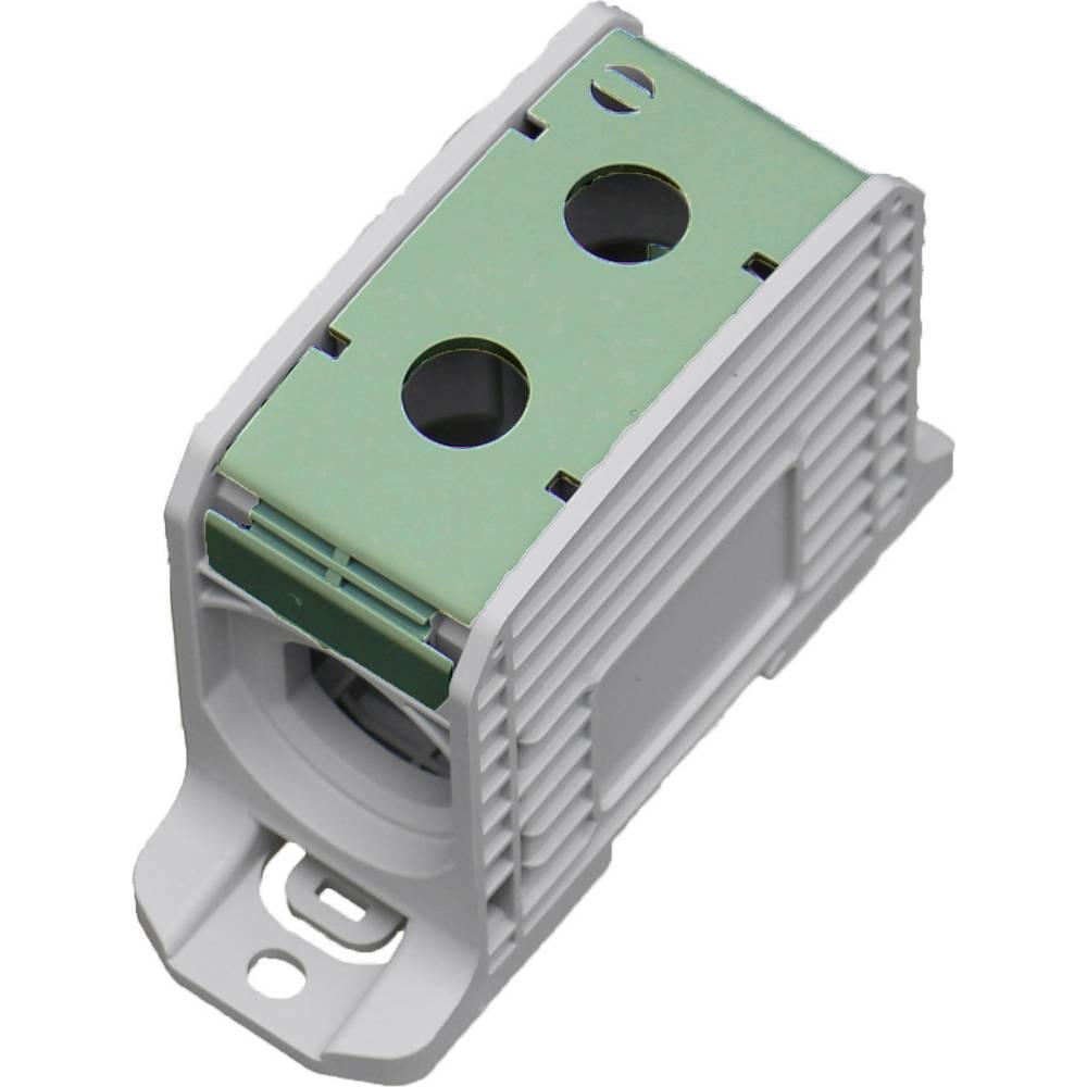 HoraeTec 106317 vrstna sponka pa sivo-bela (ral 7035), rumena, zelena 1-polni 420 A, 340 A 600 V Vrste vodnikov = PE