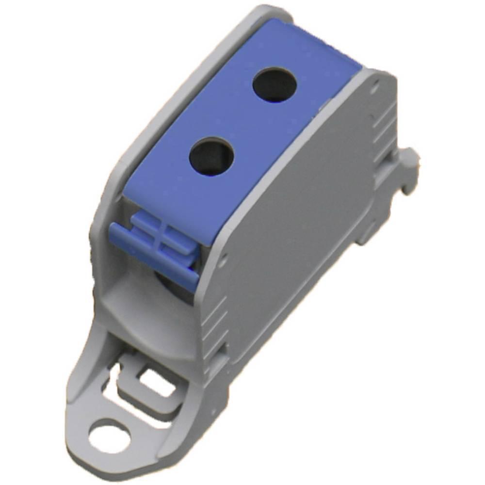 HoraeTec 106301 vrstna sponka pa sivo-bela (ral 7035), modra 1-polni 150 A, 120 A 600 V Vrste vodnikov = N