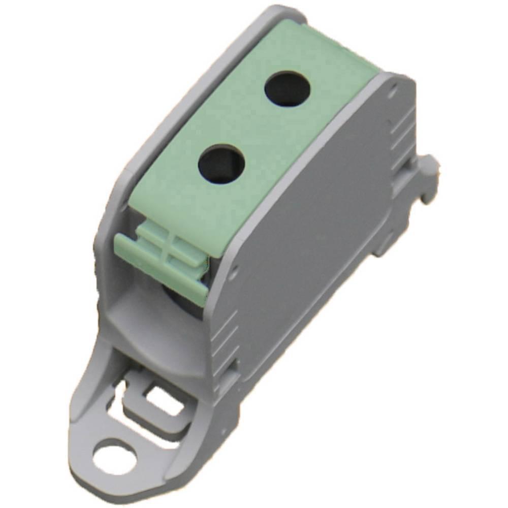 HoraeTec 106302 vrstna sponka pa sivo-bela (ral 7035), zelena, rumena 1-polni 150 A, 120 A 600 V Vrste vodnikov = PE