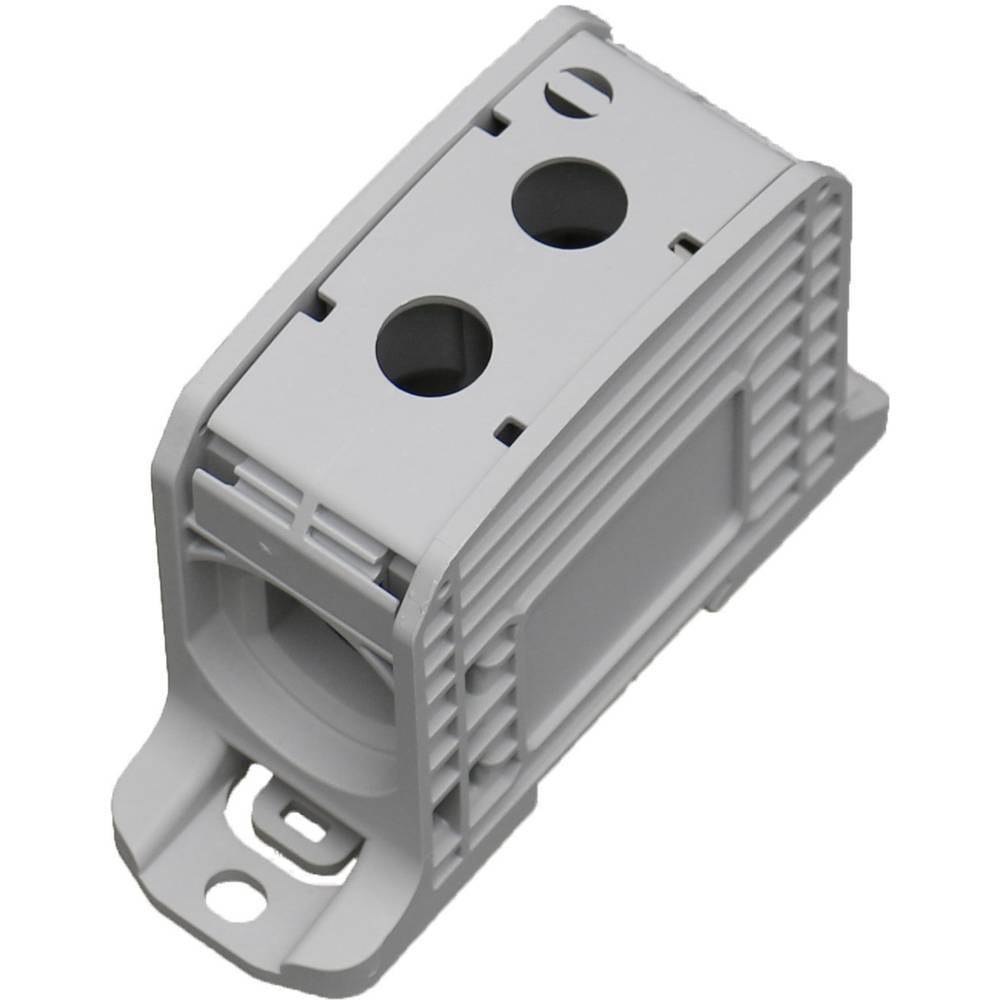HoraeTec 106310 vrstna sponka pa sivo-bela (ral 7035) 1-polni 310 A, 250 A 600 V Vrste vodnikov = L