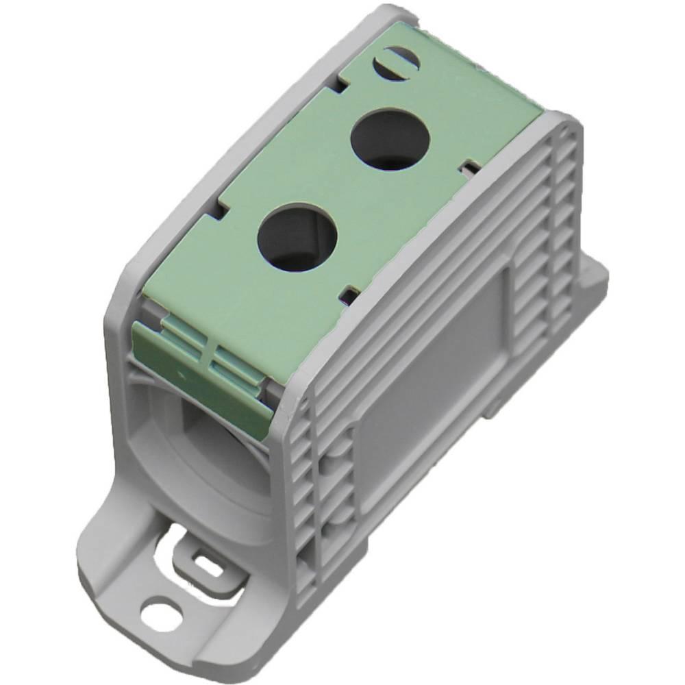 HoraeTec 106312 vrstna sponka pa sivo-bela (ral 7035), rumena, zelena 1-polni 310 A, 250 A 600 V Vrste vodnikov = PE