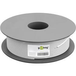 Goobay 67098 koaksialni kabel Zunanji premer: 7.05 mm 75 Ω 110 dB bela 100 m
