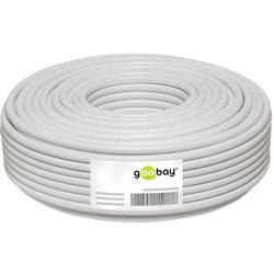 Goobay 67094 koaksialni kabel Zunanji premer: 6.80 mm 75 Ω 100 dB bela 25 m