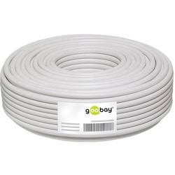 Goobay 67095 koaksialni kabel Zunanji premer: 6.80 mm 75 Ω 100 dB bela 50 m