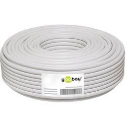 Goobay 51510 koaksialni kabel Zunanji premer: 6.80 mm 75 Ω 100 dB bela 25 m