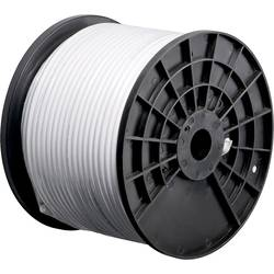 Goobay 67041 koaksialni kabel Zunanji premer: 4.60 mm 75 Ω 80 dB bela 200 m