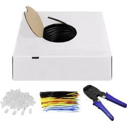 Goobay 94399 omrežni kabel cat 6 U/UTP 4 x 2 x 0.20 mm² črna 1 set
