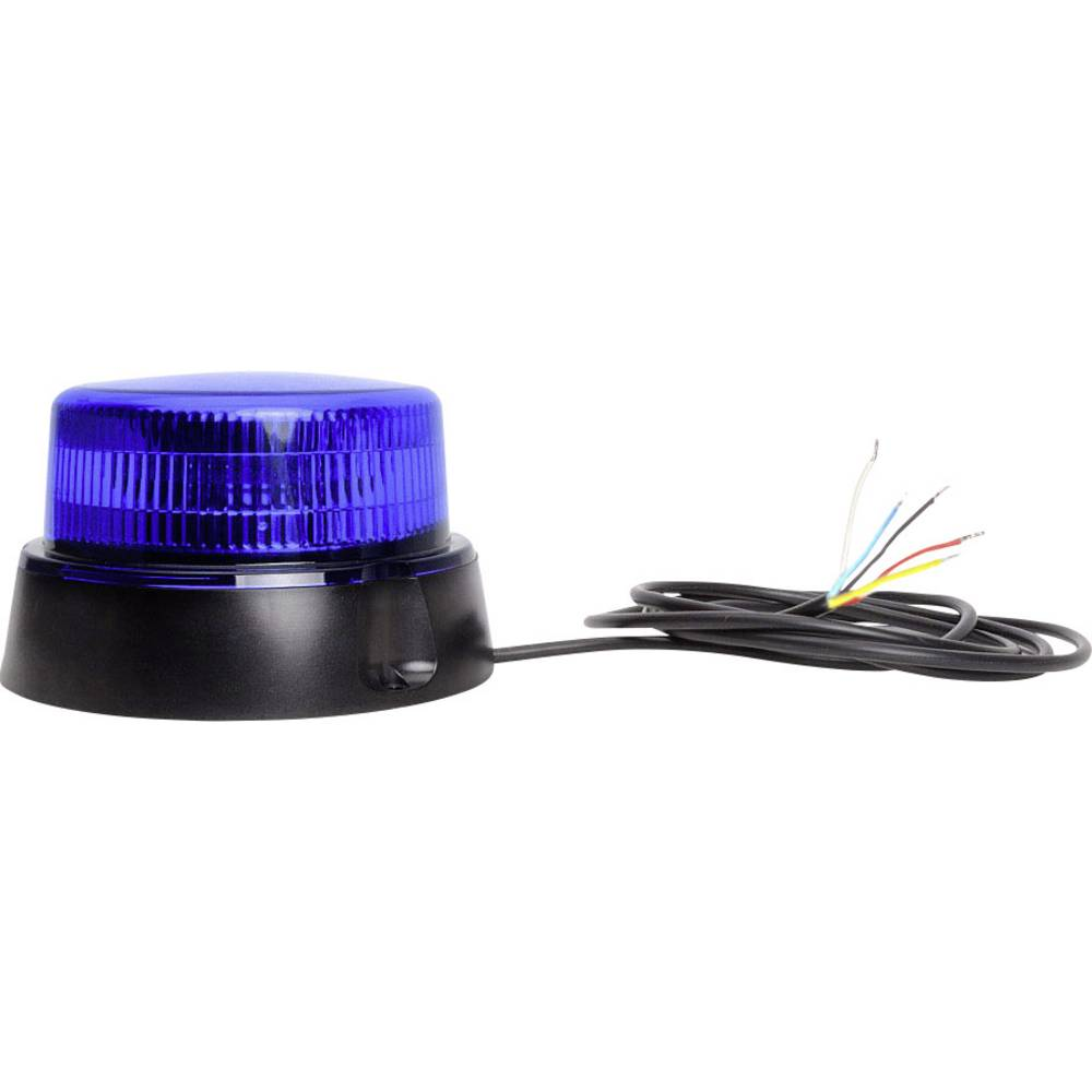 WAS rotacijska luč W126 Double Flash 867.4DSYNC 12 V, 24 V vijačna pritrditev modre barve
