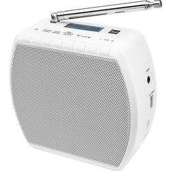 FM Radio & väckarklocka Dual STR 101 Bluetooth, USB Vit
