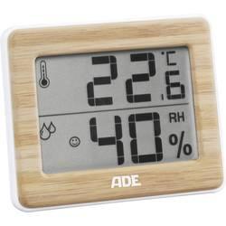 ADE WS 1702 termo/higrometer bela, bambus