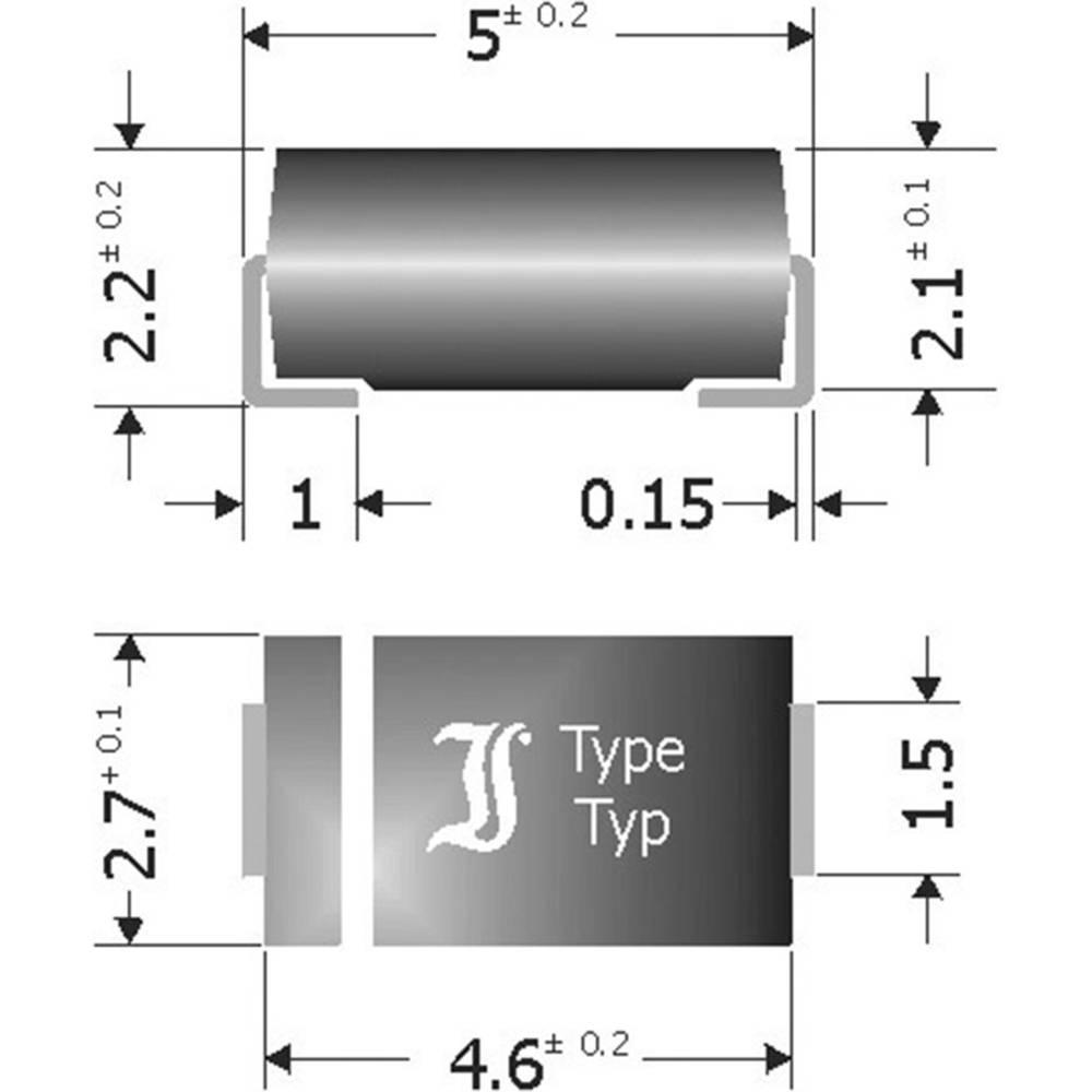 Schottky-barrier usmerniška dioda Diotec SK34SMA DO-214AC 40 V 3 A