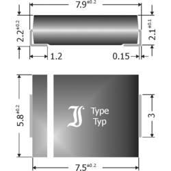 Schottky-barrier ispravljačka dioda TRU Components TC-SK84 DO-214AB 40 V 8 A
