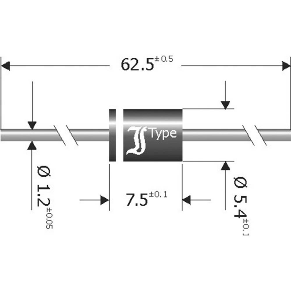 Schottky-barrier usmerniška dioda Diotec SB1250 DO-201 50 V 12 A
