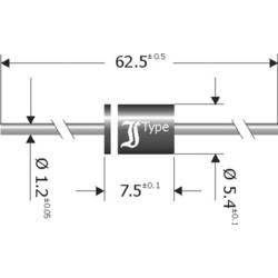 Schottky-barrier ispravljačka dioda TRU Components TC-SB1260 DO-201 60 V 12 A