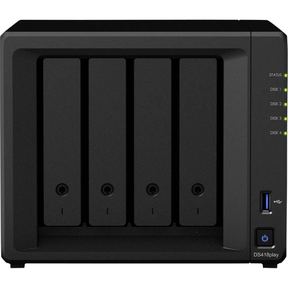 Synology DiskStation DS418Play nas strežnik ohišje 4 Bay usb priključek 3,0 spredaj