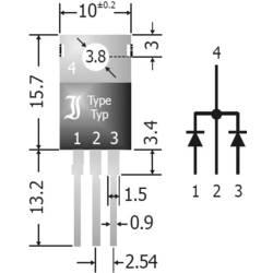 Schottky usmerniška dioda-Array 20 A TRU Components TC-SBCT2040 SIP-3 Array - 1 par skupna katoda