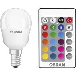 LED Klotform E14 OSRAM inkl. fjärrkontroll, färgändring, dimbar 4.5 W 250 lm A RGBW 1 st