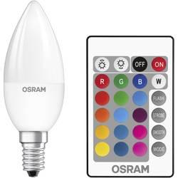 LED Kronljus E14 OSRAM inkl. fjärrkontroll, färgändring, dimbar 4.5 W 250 lm A 1 st