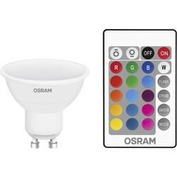 LED Reflektor GU10 OSRAM inkl. fjärrkontroll, färgändring, dimbar 4.5 W 250 lm A RGBW 1 st