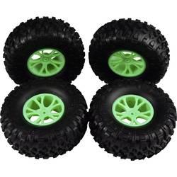 Reely 1:10 komplet koles za Buggy, block profil, Y-kraki, zelene barve 4 kosi