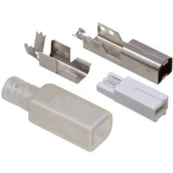 TRU COMPONENTS USB 2.0 Silver, Transparent 1 set