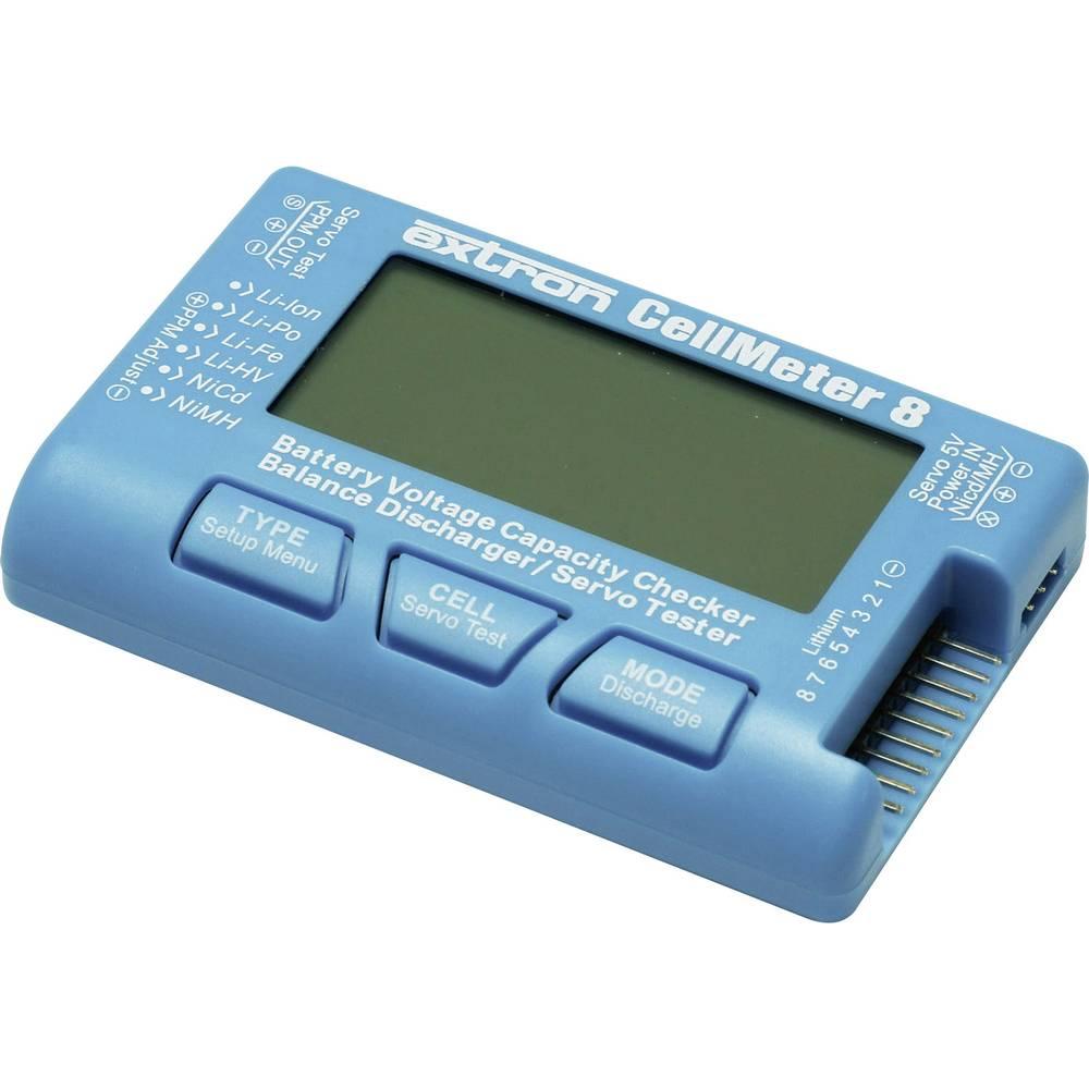 Tester akumulatorjev EXTRON Modellbau CellMeter 8 Vtični sistem: EH, XH